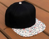 NEW Classic Floral Print Snapback Hat Unisex Custom Embroidery Your Text Logo