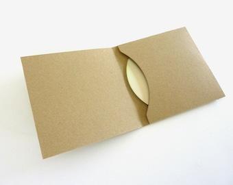 CD or DVD envelopes - kraft cardstock - Set of 5