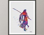 Sephiroth Final Fantasy Watercolor illustrations Art Print  8x10 Wall Art Poster Giclee Wall Decor Art Home Decor Wall Hanging [NO 39] featured image