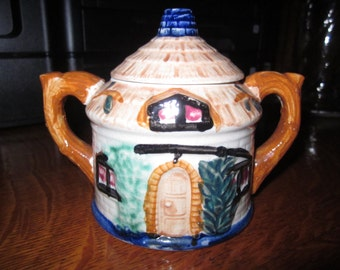 Cottage Style Covered Sugar Bowl Marked Occupied Japan