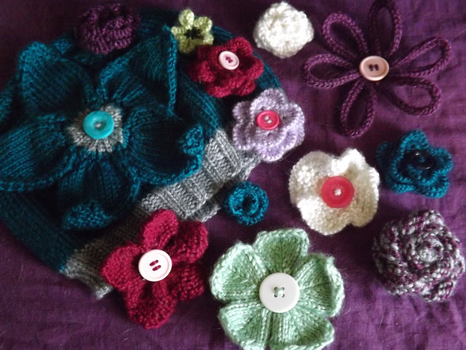 patterns knitted flowers flower patterns knitted flower