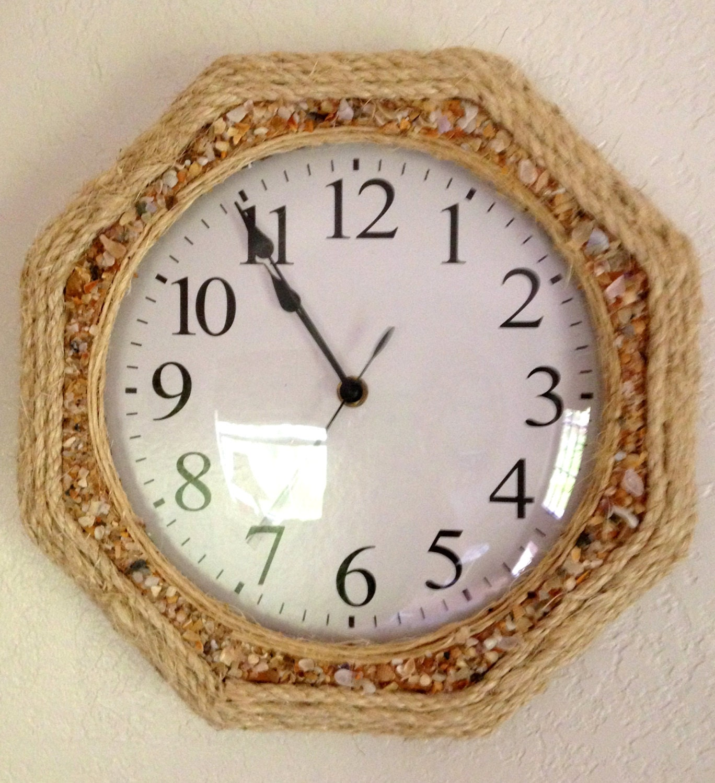 Shell Rope Wall Clock