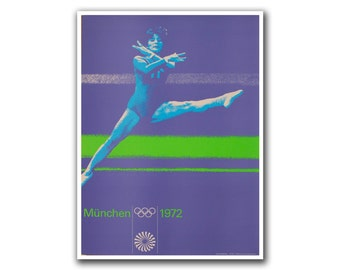 Olympics Poster Sports Art Gymnastics Decor (H97)
