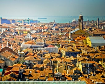Venice photography, from the top, roof, Italy photos, landscape, summer, vacation, travel photography, wall art, beautiful home decor