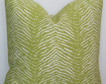 Lime Green Decorative Pillow Cover, Animal Print