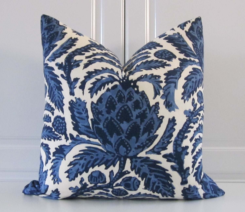 Decorative Pillows Indigo : Decorative Pillow Cobalt and Indigo