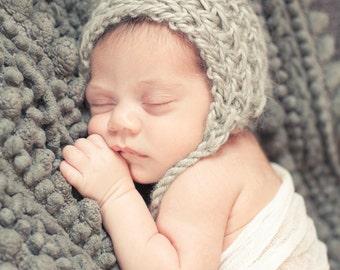 Harper Pixie Bonnet Newborn, Alpaca Hat, Newborn Bonnet, Photo Prop, Baby Bonnet, Newborn Hat, Newborn
