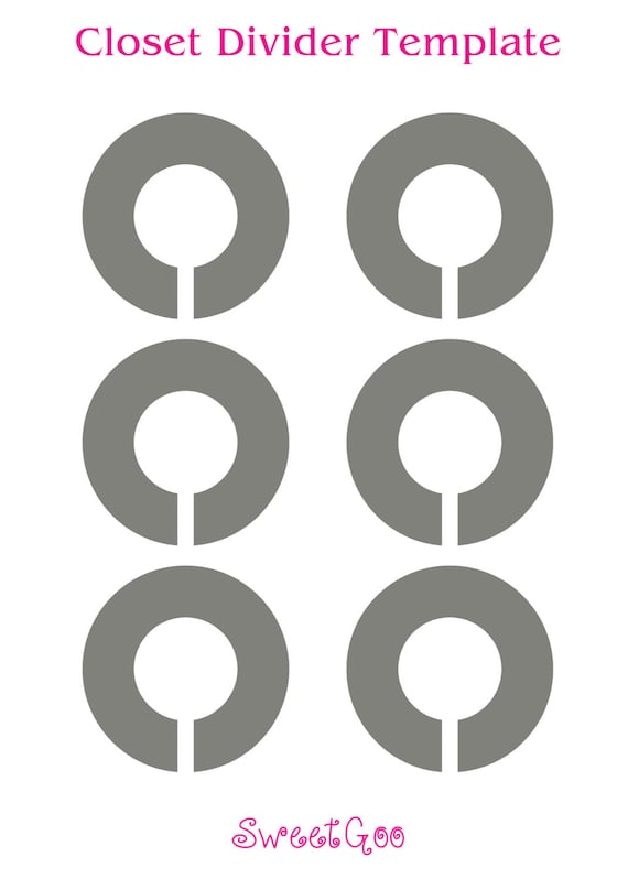 Instant download round closet divider template for Clothes divider template