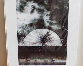 Moon tree - Signed limited edition print