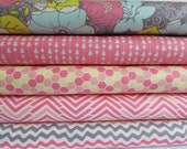 Penelope Pink by Camelot Fabrics, Cotton Fabric Fat Quarter Bundle - 5 Fabrics