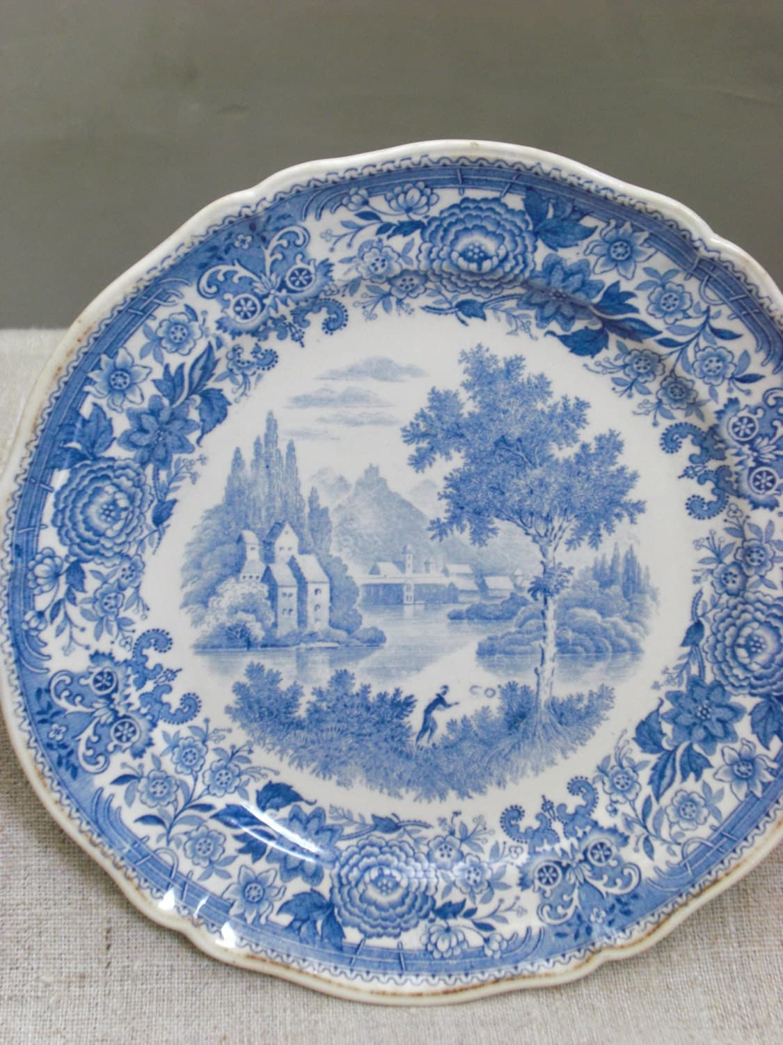 villeroy and boch burgenland plate blue by vintagefullhouse