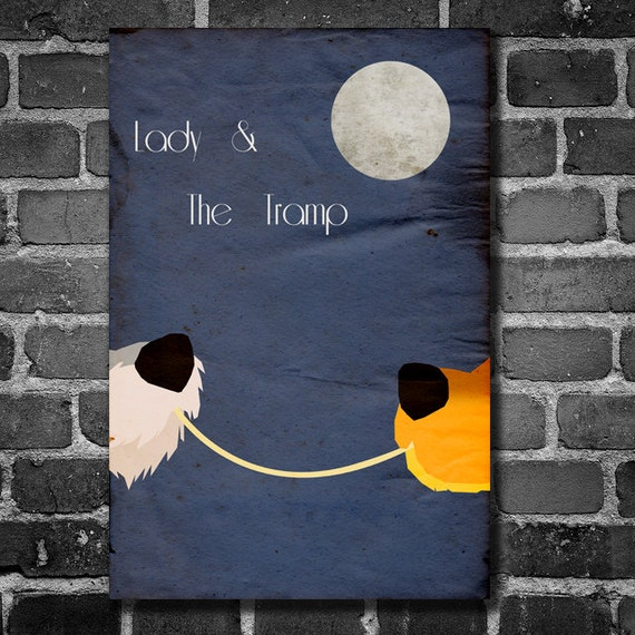 Lady And The Tramp Movie Poster Disney Minimalist Poster