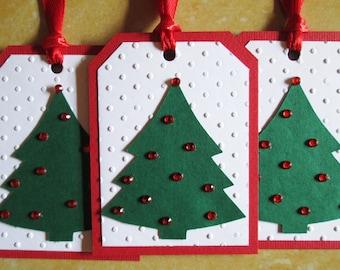 Tree Christmas Gift Tags, Christmas Tags, Christmas Favor Tags, Christmas Hang Tags, Holiday Gift Tags, Christmas Tree Gift Tags