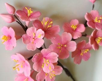 Delicate Gumpaste Cherry Blossom Spray