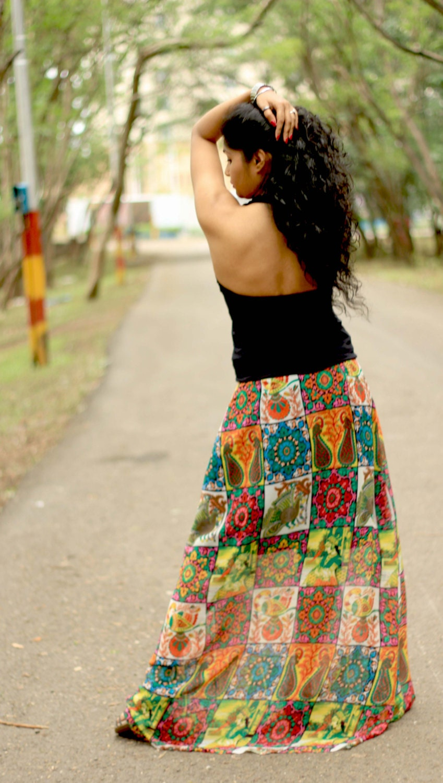 long hippie skirt bohemian pencil skirt maxi skirt skirts. Black Bedroom Furniture Sets. Home Design Ideas