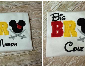 Mickey Sibling Shirt,Mickey Big Bro Shirt,Mickey Lil Bro Shirt,Sibling Disney Shirts, Family Disney Shirts