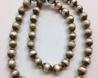 B9 Tibetan Brass Pearl Beads