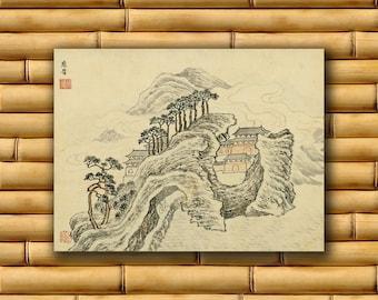 Chinese Art Asian Landscape Poster Art Print China Retro Decor (CH15)