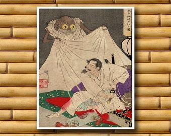 Asian Art Wall Decor Japanese Samurai Print Decor Retro Poster Japan (J64)