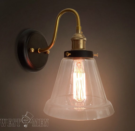 Glass Jar Wall Lights : clear glass dome wall sconce bell jar flush by AugustRushLights