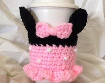 Minnie Mouse Inspired To-Go or Reusable Coffee Cup Cozy