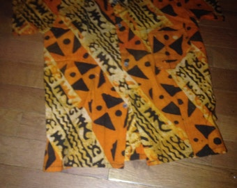 African Batik Print Shirt
