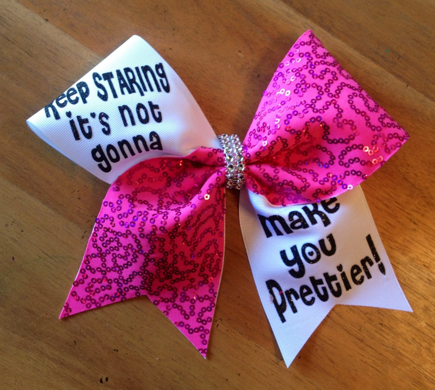 Bella bows cheer bows cheerbow cheerleader pink cheer - Cute cheer bows ...