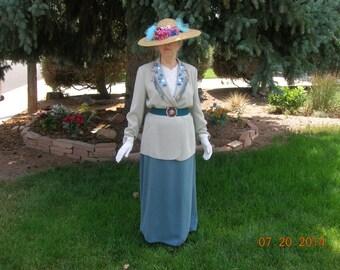 Edwardian Downton Abbey Titanic Lady's Day Suit Ensemble Dress