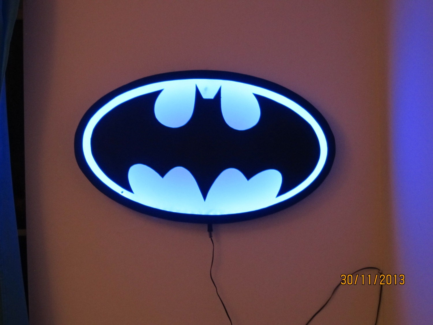 Customized batman night light with rgb remote control made - Remote control night light ...