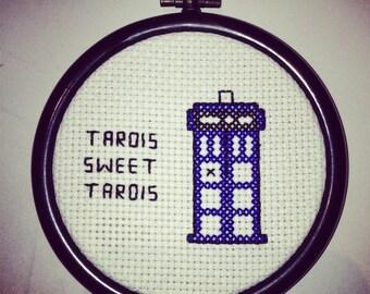 Doctor Who cross stitch - TARDIS Sweet TARDIS