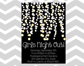 Girls Night Out Invitation/Card GNO Invitation