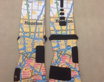Nike Elite Socks_Map_Create custom socks with the city you live in, want to live in or just want to vist.
