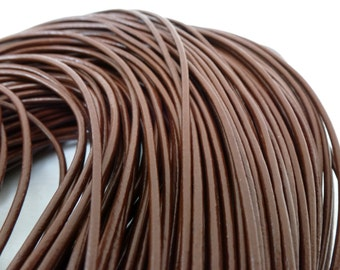 3m x Genuine Brown Leather Cord 2mm / Thong Leather