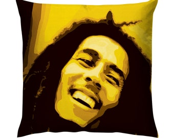 Bob Marley Portrait Pop art Cushion/Pillow 18""