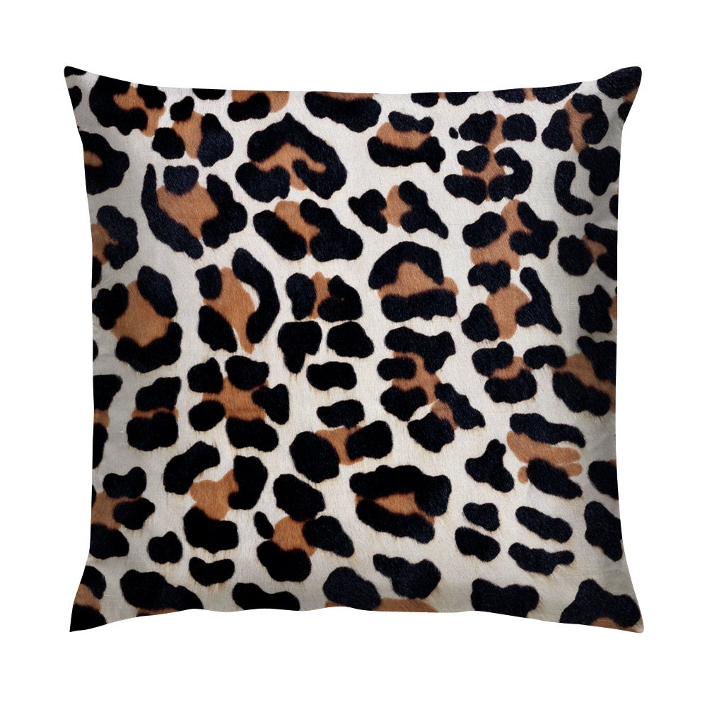 Brown Leopard animal Print Cushion/Pillow 18 by Studio2006 on Etsy
