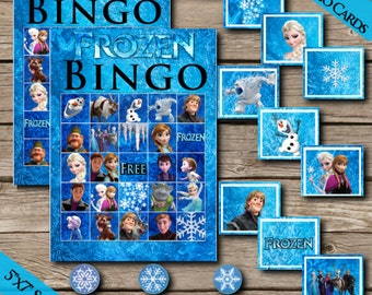 20 Frozen Bingo Cards! Digital Download! Printable Bingo Game! Extra Card