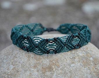 Green Macrame Bracelet Handmade