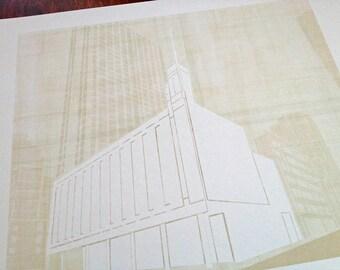 MANHATTAN New York LDS Temple (Watercolor Print)