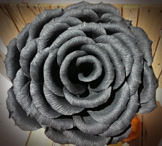 noir grand papier cr pon rose papier g ant fleurs d coration. Black Bedroom Furniture Sets. Home Design Ideas