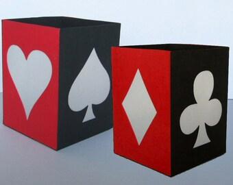 DIY Tea Light Lantern with Card Suits, Spade Heart Diamond Club