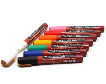 Chalk Markers by Chalk Ink - Wet Wipe Formula in 8 Classic Colors
