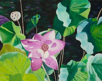 Water Lily Giclee Print