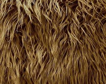 Mongolian Caramel Faux Fur Photography Prop - Photo Prop- Newborn Nest