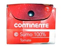 Remanufactured carton wallet, Portuguese tomato juice purse, Portugal paper clutch, red white mini-bag, Continente sumo tomate, portemonnee