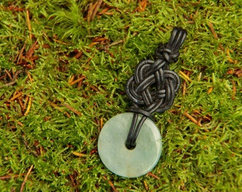 Pendant with leather knot No. 1 (without stone)