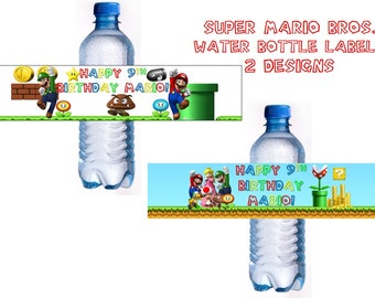 Super Mario Bros. Water Bottle Labels- PERSONALIZED