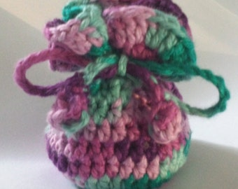 Small Reusable Bath Salt Satchel - Crochet Pattern