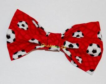 """New Idea on Clip-on Boy's Bow Tie """"Soccer"""""""