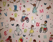 Riley Blake - Sidewalks - C3480 Pale Pink - Playing Children Fabric