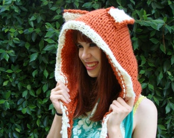 Knitted Fox Hood